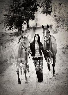 Senior pics with horses