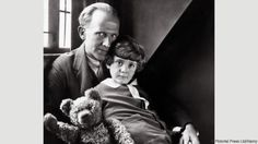 Milne with his son Christopher (Credit: Credit: Pictorial Press Ltd/Alamy)