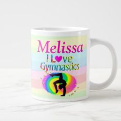 PRETTY I LOVE GYMNASTICS PERSONALIZED MUG Every Gymnast will be inspired with our awesome personalized I love Gymnastics Gifts https://www.zazzle.com/collections/i_love_gymnastics_personalized_gifts-119756173861570670?rf=238246180177746410&CMPN=share_dclit&lang=en&social=true  Gymnastics #Gymnast #WomensGymnastics #personalizedGymnast