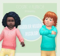 Sims 4 CC's - The Best: Toddler Hoodie Recolor by cosmicplumbob