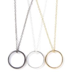 Best Friends Forever Ring Necklaces Set of 3 (130 AED) ❤ liked on Polyvore featuring jewelry, rings, chain jewelry and dangling jewelry
