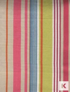 Tembok Stripe by Harlequin, suitable for curtains and blinds. Flower Cart, Striped Fabrics, Decoration, Beach Mat, Blinds, Outdoor Blanket, Curtains, Embroidery, Home Decor