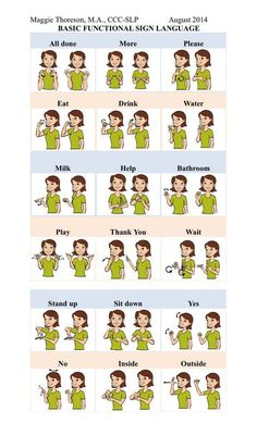 Basic functional sign language for toddlers and kids with autism to make language more concrete and understandable
