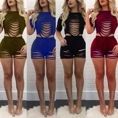 2017 Sexy fashion design summer rompers short sleeve