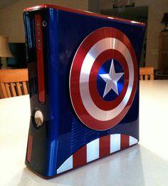 Captain America Xbox 360 Casemod: Steve RRoDgers