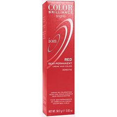 Ion Color Brilliance Semi-Permanent Brights Hair Color Red.  This is going down soon!!