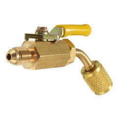 Brass Shut Valve For A/C Charging Hoses HVAC 1/4 Inch AC Refrigerant R410a R134a
