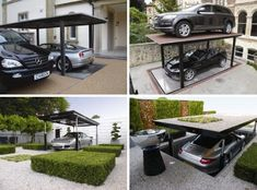 Multi-functional transforming furniture design can fantastic and secret rooms add mystery - but what about entire convertible spaces Perfect for the well-to-do but tight-on-space professional urban dweller, this creative custom car elevator by Cardok turns a residential patio into a hidden parki ...