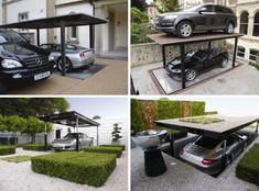 Smart car parking lift.