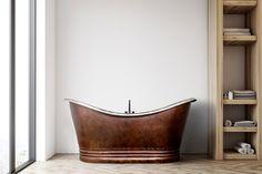 1670 mm x 810 mm Freestanding Standard Double Ended Bathtub GMLK Copper Tub, Copper Bathroom, Double Bathtub, Soaking Bathtubs, Whirlpool Bathtub, Family Bathroom, Traditional Bathroom, Interior, Bloomsbury