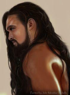 Jason Momoa as Khal Drogo on Game of Thrones                                                                                                                                                                                 More