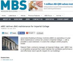 ABEC delivers BMS maintenance for Imperial College London