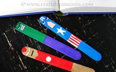 Avengers Bookmarks Craft for Kids | MAY 6, 2012 | craftsbyamanda.com