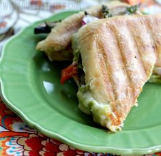 Roasted Veggie Panini with Creamy Chipotle-Lime Dressing