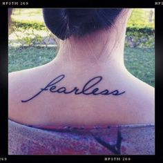 If you had one word tattooed on you it would be? I would have this one smaller though.