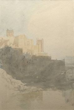 Joseph Mallord William Turner (1775‑1851) Durham Castle, with the Cathedral 1801 Graphite and watercolour on paper support: 392 x 268 mm