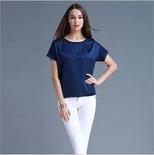 2b6d2b80e9 Resultado de imagem para camisas femininas manga curta de seda