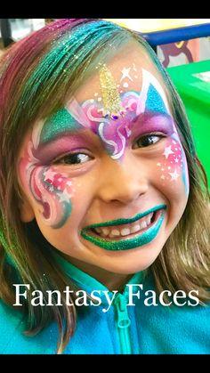 #cottoncandyunicorn #unicorn #facepainting #fantasyfaces