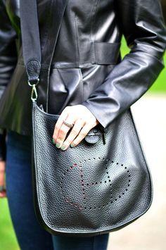 Hermes Evelyne in black - fantastic bag one of my favorites.  #fashionfunction - bags, cool, cute, weekend, beach, drawstring bag *ad