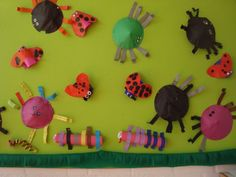 De begeleide werkjes: spinnen, wormen, duizendpoten en lieveheersbeestjes.