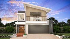 Idea fachada casa dos pisos moderna