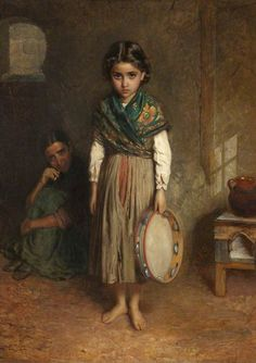 A Little Spanish Gipsy - Burgess 1868, this one's in Towneley Museum