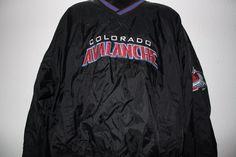 Nhl Center Ice by Starter Colorado Avalanche Pullover Wind breaker Jacket SZ 2XL #Starter #ColoradoAvalanche