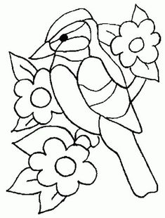 New Embroidery Baby Quilts Applique Designs 19 Ideas Bird Embroidery, Machine Embroidery Applique, Applique Quilts, Embroidery Patterns, Stained Glass Patterns, Mosaic Patterns, Quilt Patterns, Glass Art Pictures, Mosaic Flower Pots