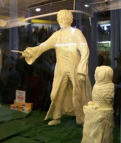 Harry Potter. awesome! its like the butter cow at the fair!