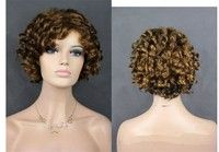 Fashion WOMEN Wig Synthetic Hair Brown Short Wavy Hair