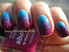 piCture pOlish 'Ocean & Shocked' gradient mani creation by Fancy Nails and Cups of Tea!  Buy on-line now:  www.picturepolish.com.au