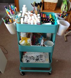 Memories & More: Craft Room Organization Raskog cart from Ikea