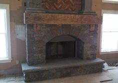Hand Hewn Barn Beam Mantle The Bigger the Better! http://www.realantiquewood.com