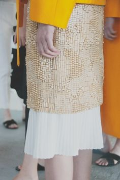 Backstage at Trager Delaney SS15 - Photography by Philip Trengove