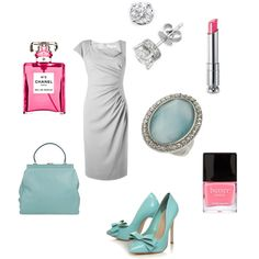 Spring Wedding outfit, created by #issiesmommy on #polyvore.  Kurt Geiger #Rochas. I LOVE it :-)
