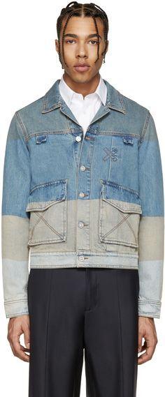 Kenzo - Blue Denim Colorblocked Jacket | denim http://www.99wtf.net/men/mens-accessories/shop-type-shoes/