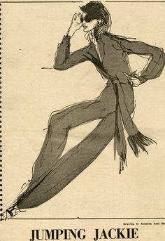 Illustration - Jackie Kenedy by Kenneth Paul Block
