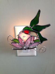 Stained Glass Hummingbird Night Light or Sun by CraftsbyTine, $16.00