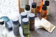 There's nothing like a brand new, beautifully packaged set of little plastic bottles to get your guests in a bit of a lather and we're pretty . Hotel Toiletries, Hotel Amenities, Hotel Supplies, Cosmetic Packaging, Color Theory, Plastic Bottles, Suit, Bathroom, Health