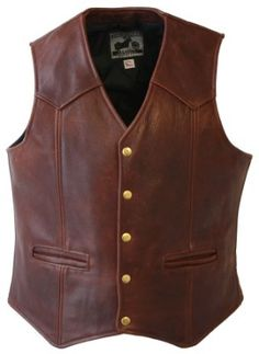 Choosing leather vest for men only takes a few considerations to get the best piece. Here, you'll know where to find the finest black leather vest for men. Black Leather Vest, Studded Leather Jacket, Leather Hats, Biker Leather, Leather Men, Brown Leather, Leather Vest Outfit, Cowhide Leather, Western Wear