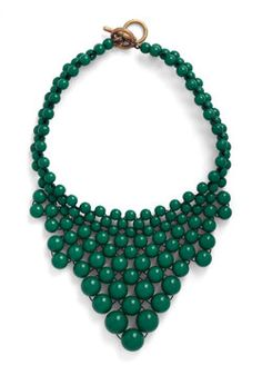 Just Bead Yourself Necklace in Forest, ModCloth