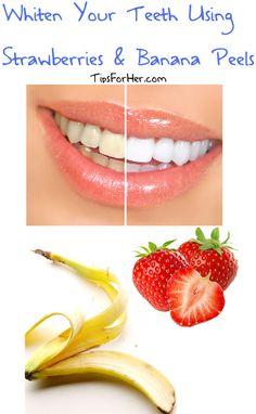 Whiten Teeth Using Strawberries