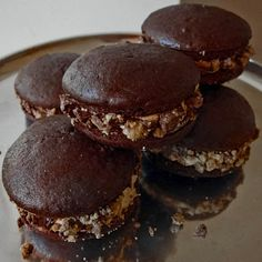 Peanut Butter Cup Whoopie Pies with Chocolate & Peanut Butter Glaze
