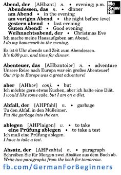 German For Beginners: 1