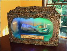 specimen preservation chamber made by HF member Hilda. Link to tut. Purchased hand, fish aquarium, GS foam, dirt, paint.