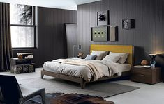 Fabric double bed JAVA by Poliform design Soo K. Small Furniture, Contemporary Furniture, Bedroom Furniture, Furniture Design, Bedroom Decor, White Wall Bedroom, Bedroom Sets, Modern Bedroom, Bed Design