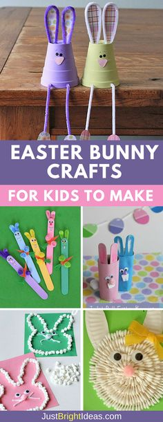Hop Hop Hop like a Bunny! Don't miss these super cute Easter bunny crafts for kids to make – perfect for a Sunday afternoon of fun! Everything from craft sticks to toilet roll bunnies and you should have all the materials you need at home.