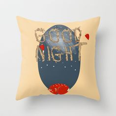 Good  night  Throw Pillow by Elliot Swanson  - $20.00