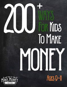 How to Make Money as a 13 and 14 Year Old - CouponingMoney Making and Saving Tips - Ways To Earn Money, Make Money Fast, Earn Money Online, How To Raise Money, Make Money From Home, Money Saving Tips, Money Tips, Jobs For Teens, Teen Jobs