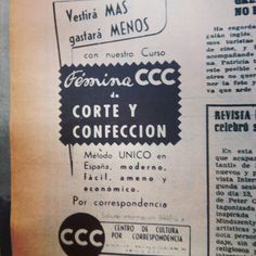 CCC... en 1957. Otros tiempos. #centrodedocumentacionpublicitaria  #lottussecuidalapublicidad